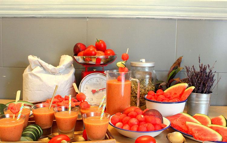 smoothie de frutas e verduras