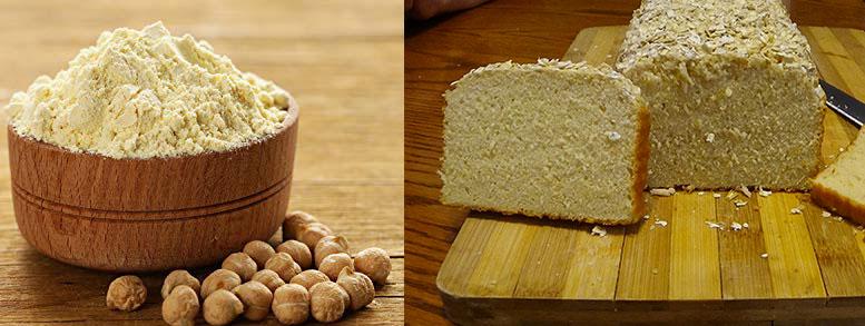 pan con harina garbanzos